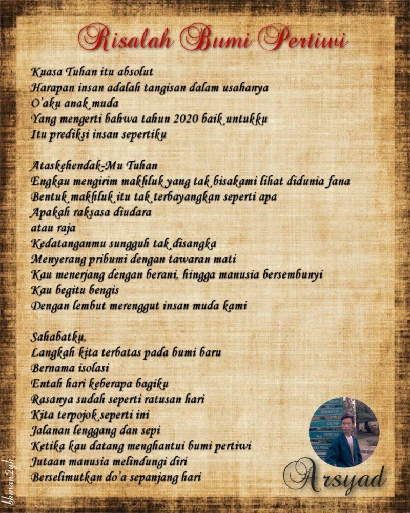 Arsyad Turut Semarakkan Gebyar Puisi Hari Anak Nasional Man 2 Yogyakarta